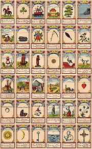 Antique Lenormand Tarot cards Gustav Kuehn