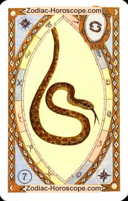 The snake astrological Lenormand Tarot
