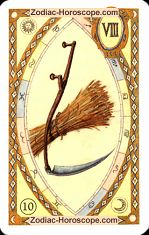 The scythe astrological Lenormand Tarot