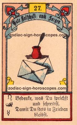 The letter, monthly Gemini horoscope April